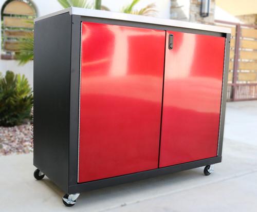 Tall Mobile 2 Door Cabinet
