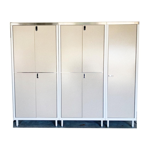 Double Stack and Locker Sandstone Collection - Stainless Steel Shelves