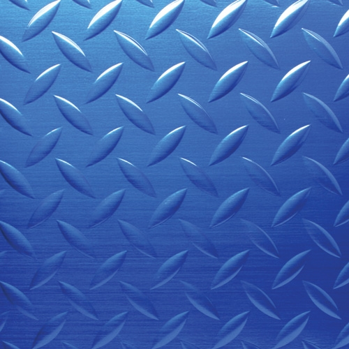 Blue Diamond Plate Aluminum