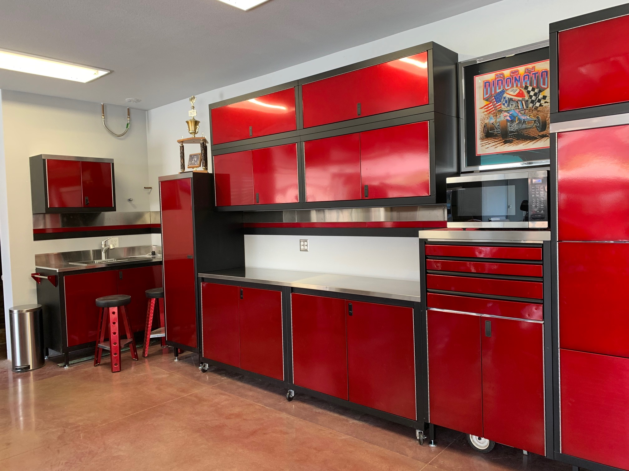 Red Garage Cabinets, Steel Storage Cabinets for Garage