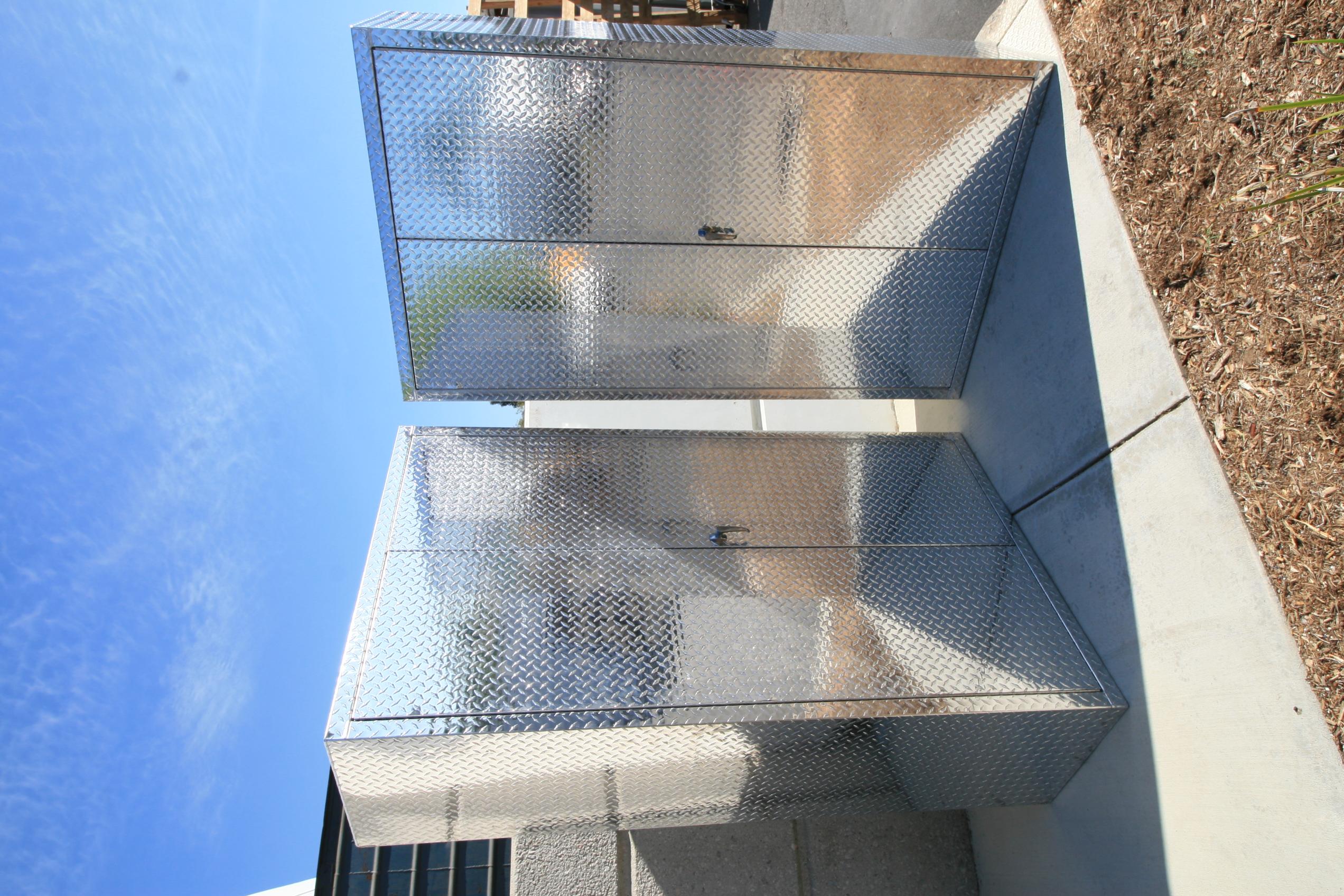 Diamond Plate Storage Locker