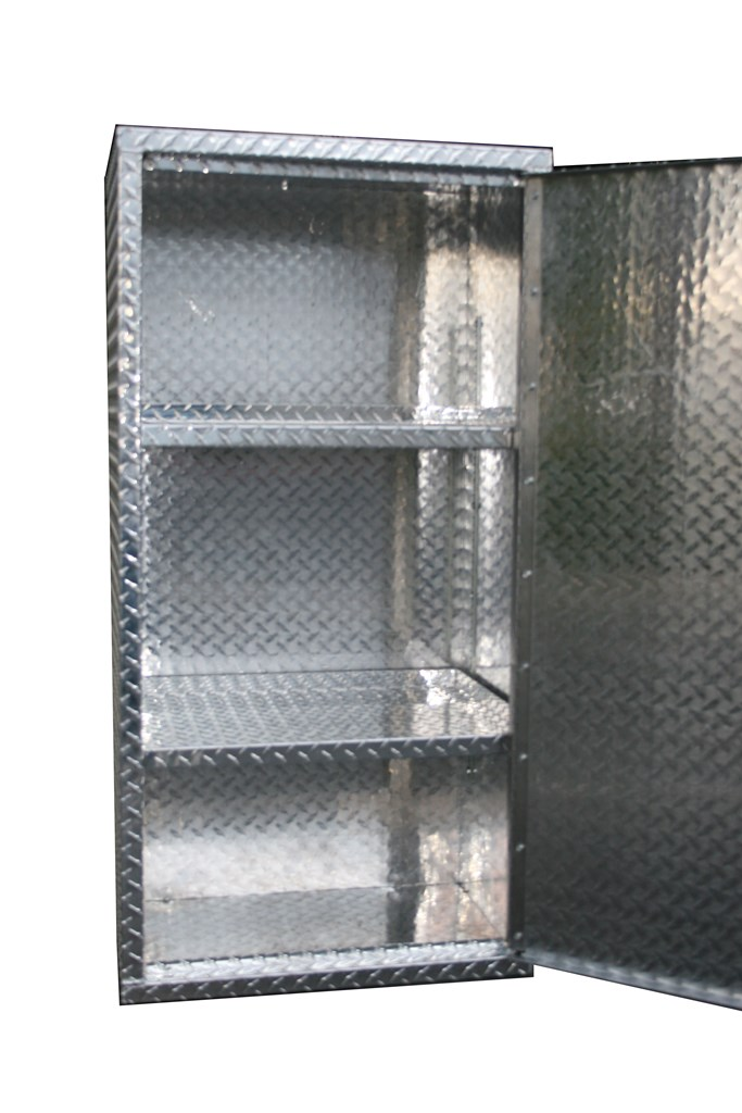 Diamond Plate Aluminum Storage Locker