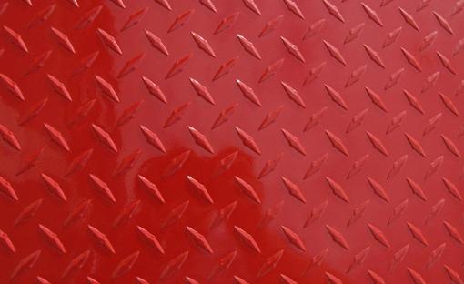 Red Diamond Plate Aluminum