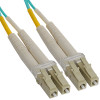 OM3 LC to LC Multimode Duplex Fiber Optic Cable - 1 meter