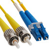 LC to ST Singlemode Duplex Fiber Optic Cable
