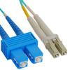 LC to SC OM3 Fiber Jumper Cable 1 meter
