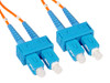 SC to SC Multimode Duplex Fiber Optic Patch Cable