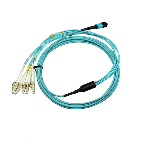 MPO12  to 4LC Multimode Duplex Fiber Optic Patch Cable