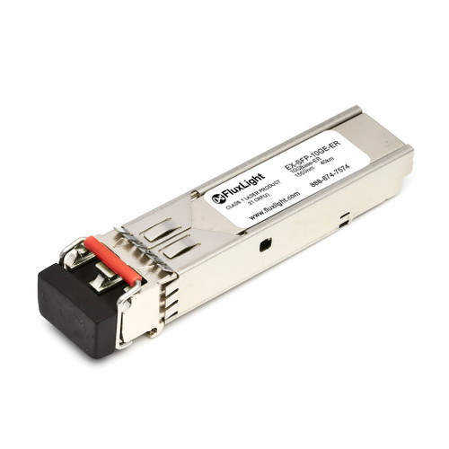 Juniper EX-SFP-10GE-ER-FLT (10GBase-ER SFP+, 1550nm, 40km, SMF, DDM) Optical Transceiver Module. Best Pricing for Data Center Optics, Enterprise Network, Telecom and ISP Network Optical Transceivers | FluxLight.com