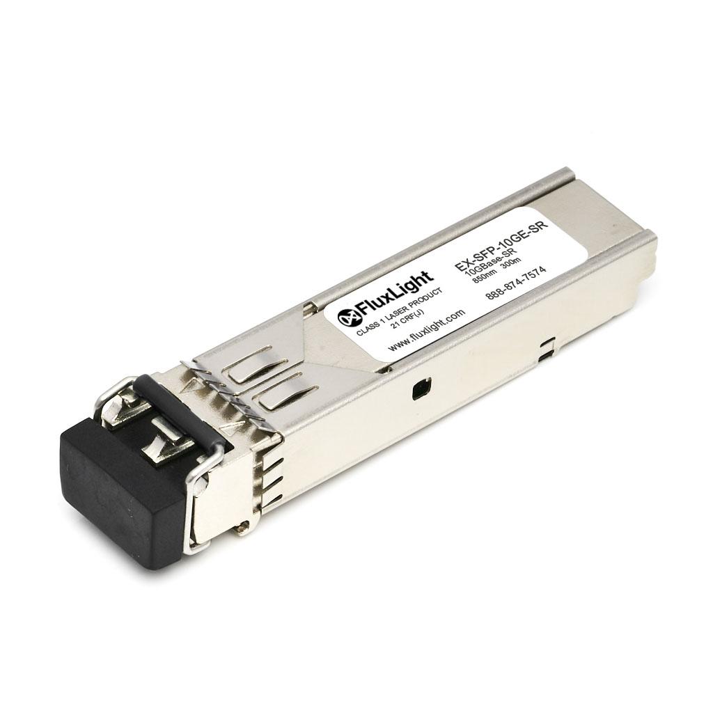 Juniper EX-SFP-10GE-SR (10GBase-SR SFP+, 850nm, 300m, MMF, DDM) Optical Transceiver Module. Best Pricing for Data Center Optics, Enterprise Network, Telecom and ISP Network Optical Transceivers | FluxLight.com