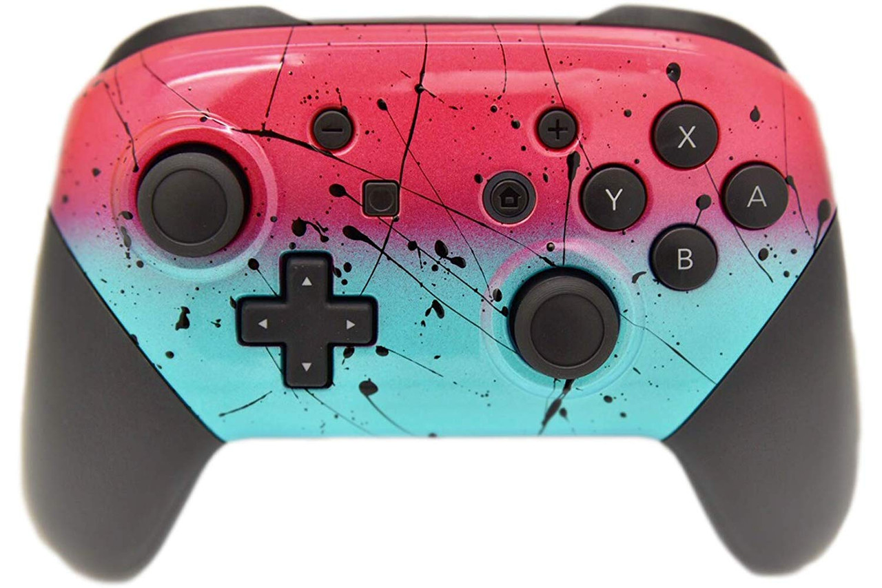 Red Teal Nintendo Switch Pro Controller
