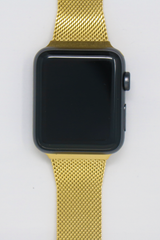 Apple Watch Mesh Strap in Bright Gold