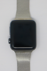 Apple Watch Mesh Strap in Bright Silver