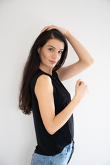 Lucy Muscle Tank in Black