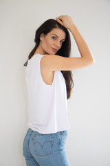 Lucy Muscle Tank in White