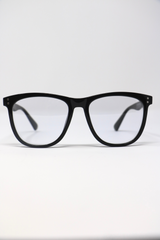 Papyrus Persol Tintless Blue Light Glasses in Black Frame