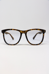 Papyrus Persol Tintless Blue Light Glasses in Tortoise Frame