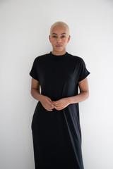 The Miles Midi Dress in Black