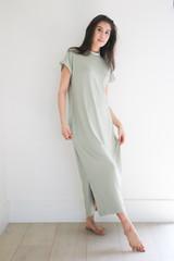 The Miles Midi Dress in Soft Sage