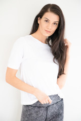 Casual Basic Boxy Tee in White