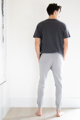 Relaxed Tapered Fit Ankle Length Jogger in Grey