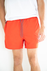 Onsted Solid Colour Swimshorts in Red
