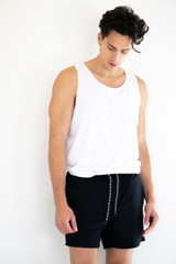 Onsted Solid Colour Swimshorts in Black