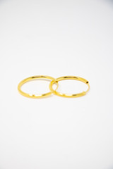 """Silver Gold Plated 1"""" Hoop Earring"""