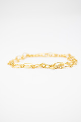 """Silver Gold Plated Loose Link 16"""" Chain Necklace"""