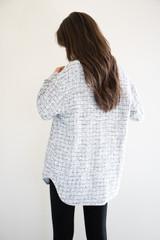 Twyla Tweed Shirt-Jacket in Charcoal Mix