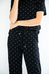 Poppie Sleep Set in Black Polka-Dot