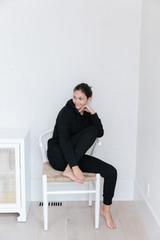 Modest Day Sweatsuit in Black
