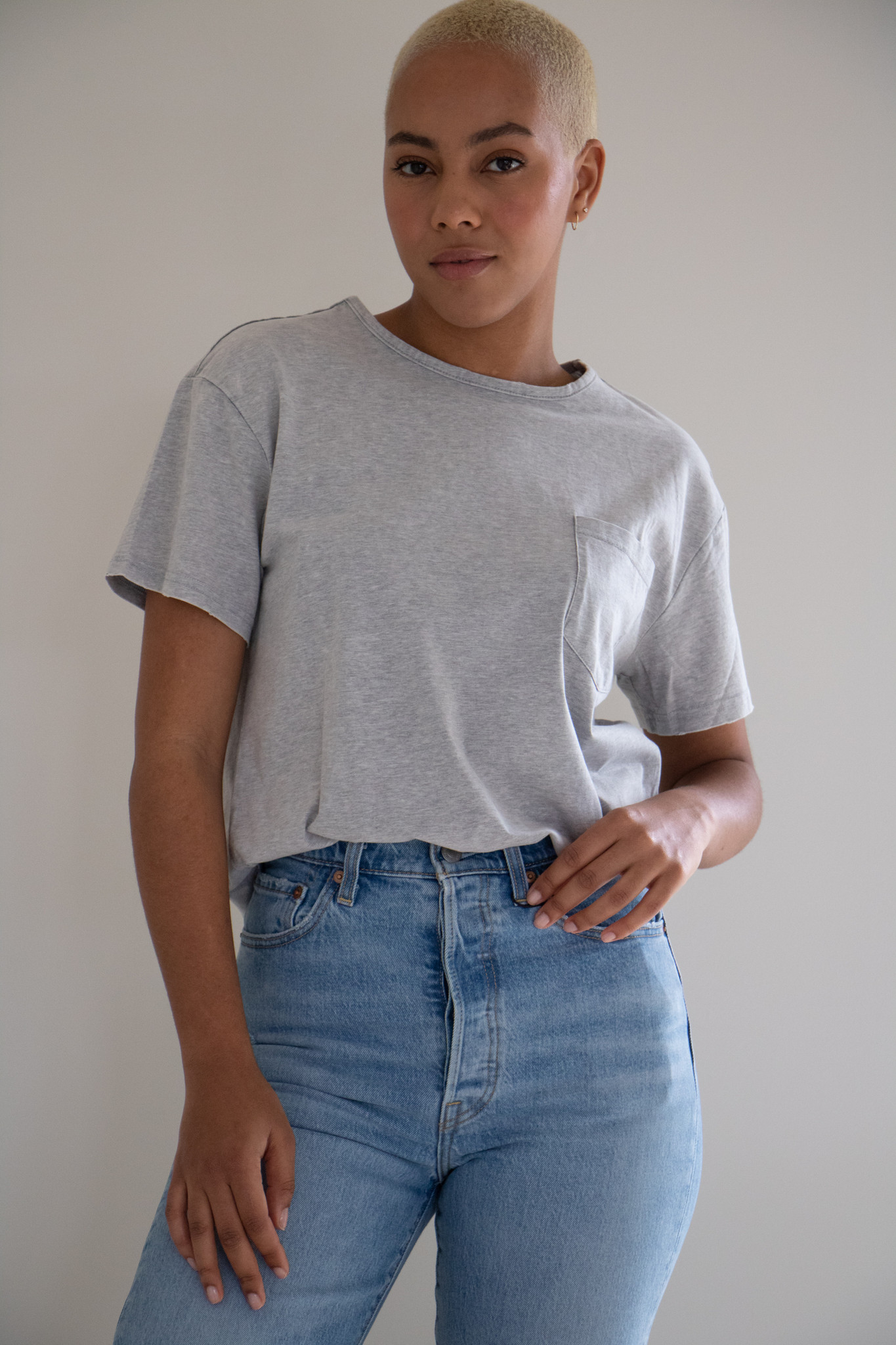 Dazed & Confused Mineral Washed Tee in Mineral Grey