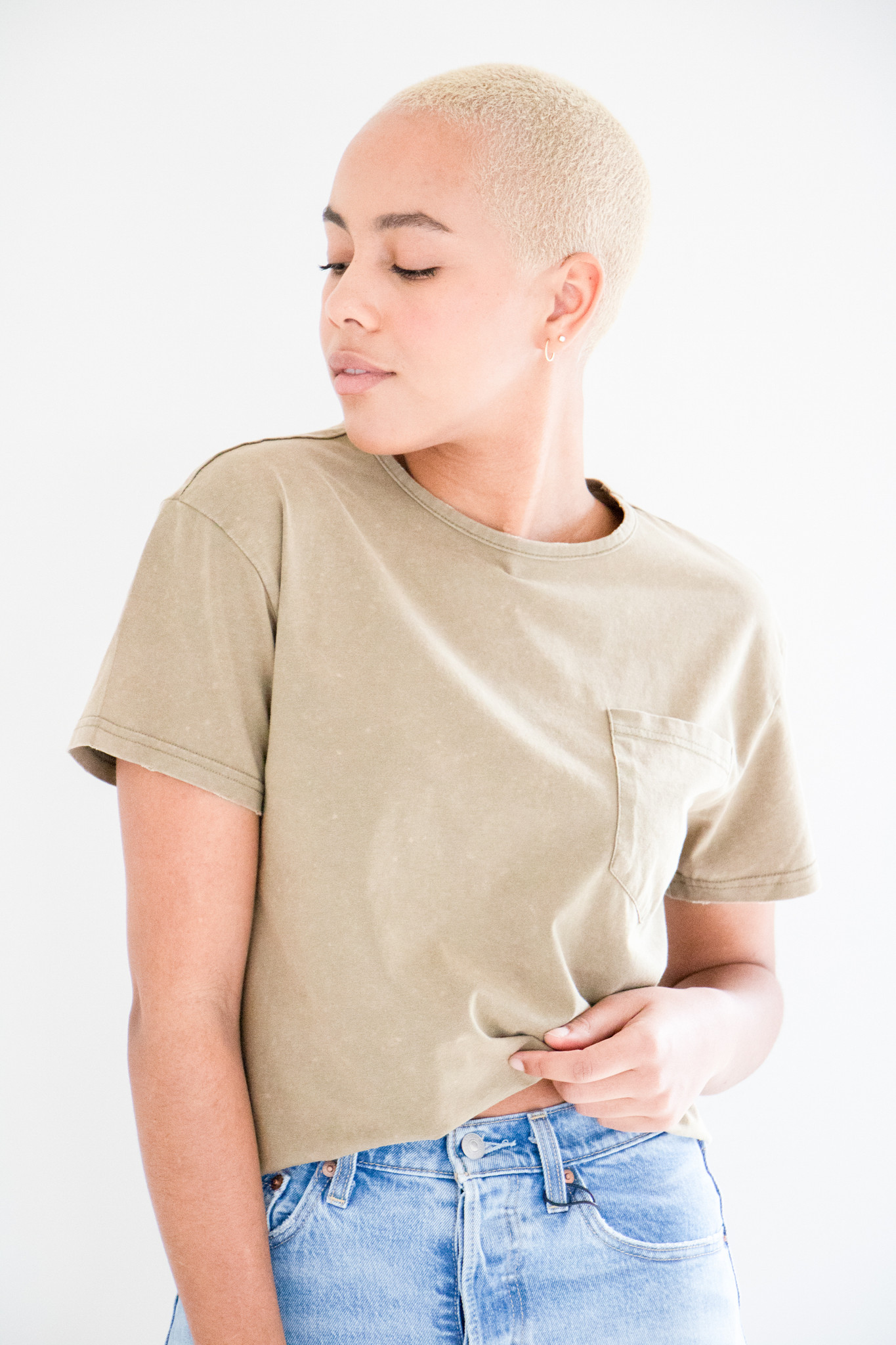 Dazed & Confused Mineral Washed Tee in Mineral Green
