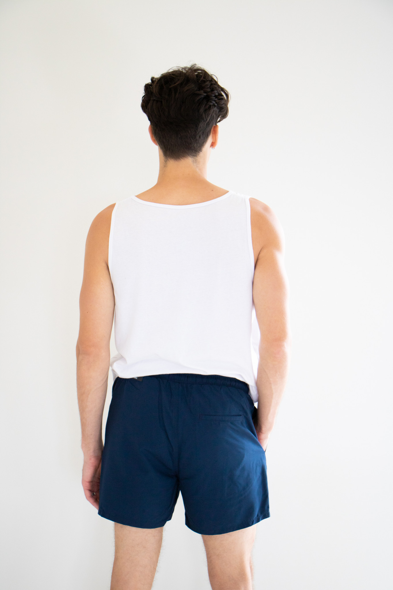 Onsted Solid Colour Swimshorts in Navy