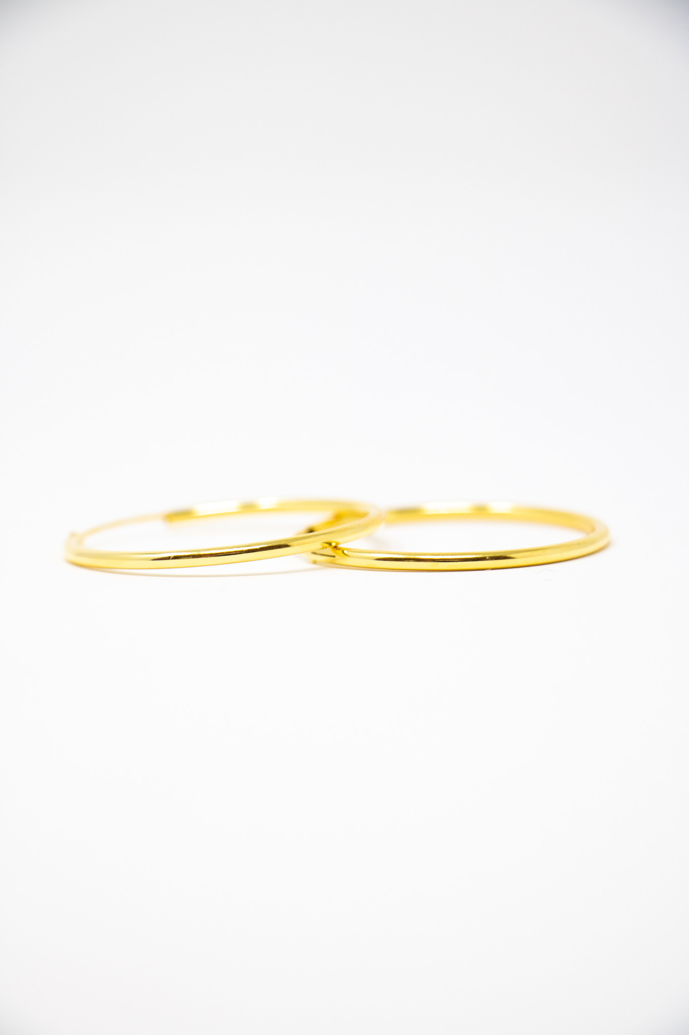"""Silver Gold Plated 1.5"""" Hoop Earring"""
