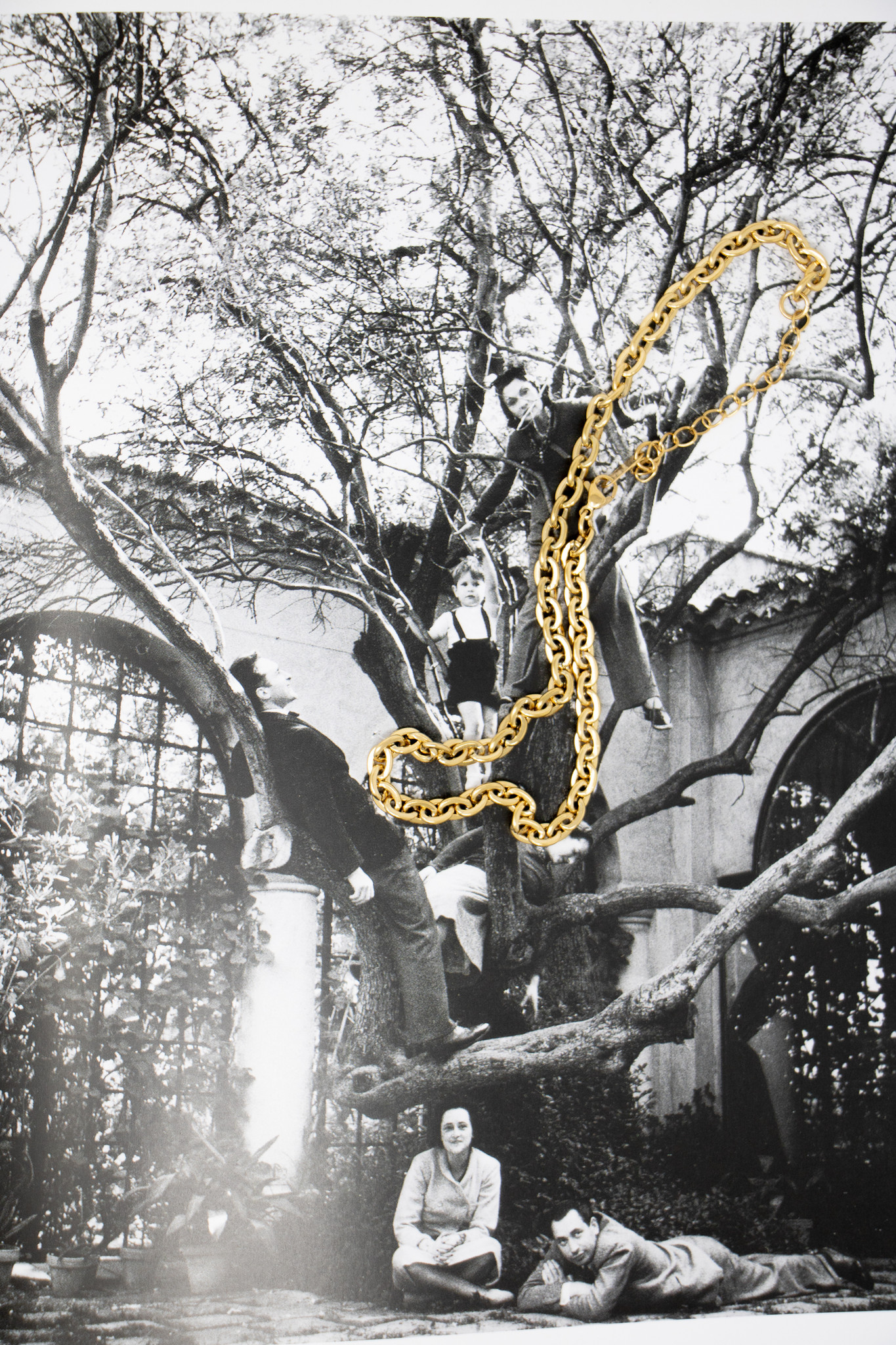 "18 Karat Gold Plated Link 16"" Chain"