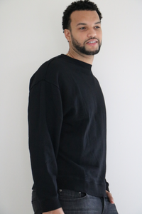 The Rory Pullover Crew in Black