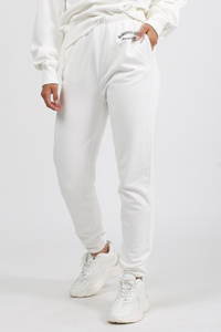 Welcome to the Babes Social Club. Our new style of Jogger is the Best Friend fit. She has a high rise waist and a relaxed leg with embroidery. Our Best Friend fit is 100% cotton and has already been preshrunk so it'll fit you perfectly. We recommend sticking true to size for this collection.