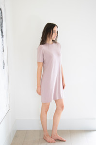 The Elevated T-Shirt Dress in Rustic Rose