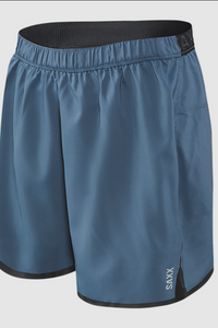 These 2N1 running shorts combine a semi-compressive liner with a lightweight shell. The integrated liner hugs the body but is never restrictive. The trail, track or treadmill. Featuring a feather-weight shell and the BallPark Pouch™, Pilot is the lightest pair of running shorts you've ever worn.