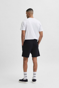 The classic sweat short. Featuring rubber-tipped drawstrings, a slightly relaxed leg and sits just above the knee. Effortless to pair and style with your favourite basics, runners and accessories.