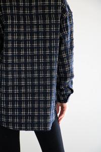 Bella Mid Length Shirt Jacket in Black