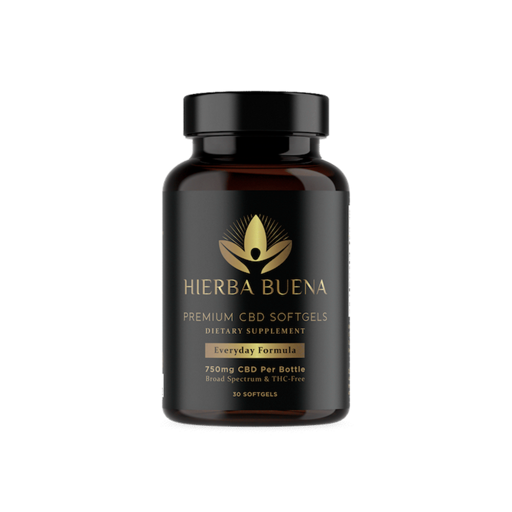 Hierba Buena's premium broad spectrum THC-free CBD Daily Softgelsare formulated to give you predictable results in an easy-to-swallow format. Each softgel is made using our water-soluble nanoemulsion technology,whichincreases bioavailability andtherefore enhances efficacy.