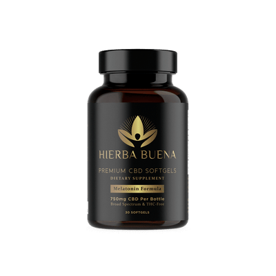 Hierba Buena's CBD Softgels with Melatonin are specially formulated to support sleep and relaxation. Each convenient softgel combines our proprietary water-soluble nanoemulsion technology with melatonin,which may help you find predictable and restful sleep.