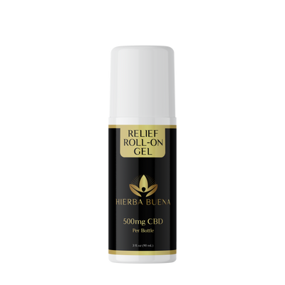 Hierba Buena's Relief Roll-On Gel made with Arnica, Menthol & CBD to provide instant relief from the most intense pain. Relieves pain from strains, sprains, aches & soreness. For bones, joints & muscles.