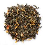 Organic Ginger Orange Peach Green  Tea With Natural Flavors