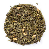 Ginger Peach Green Tea  blend of green tea, ginger extract, and peach essence