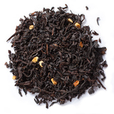 Pure organic black tea blend combines the flavors of organic orange peel and cinnamon