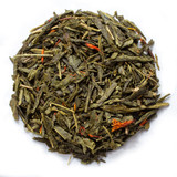 Organic Pomegranate Tea blended with Organic Green Tea and Organic Safflowers